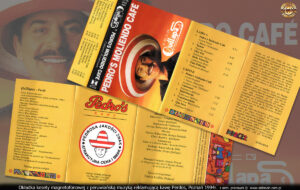 Okładka kasety magnetofonowej z peruwiańską muzyką reklamującą kawę Pedros.