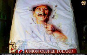 1994 - technika airbrush, reklama kawy Pedro`s dla Union Cooffe Poland