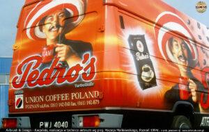 Reklama kawy Pedros dla Strauss Cafe Poland.