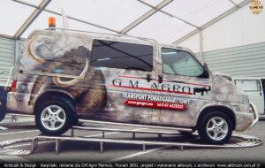 Grafika reklamowa na VW Transporter T4 dla GM Agro Mamuty.