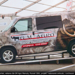 GM AGRO MAMUTY – VW TRANSPORTER T4 – WYKONANIE REKLAMY W TECHNICE AIRBRUSH