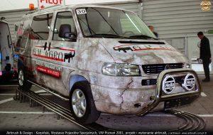 Airbrush & Design - Karpiński, Wystawa Pojazdów Specjalnych, VW-Poznań 2001, projekt i wykonanie airbrush, z archiwum  www.airbrush.com.pl ©