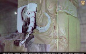 Airbrush & Design - Karpiński, Poznań 2002, projekt i wykonanie w technice airbrush, klient GM AGRO - MAMUTY, z archiwum  www.airbrush.com.pl ©