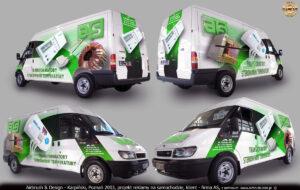 Projekt reklamy transformatorów i sterowników dla firmy AS.