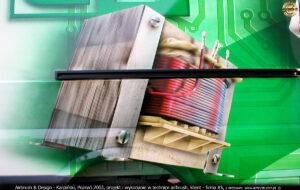 Reklama samochodowa transformatora firmy AS.