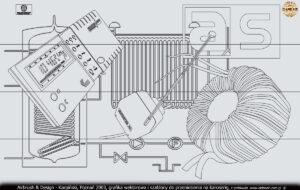 Grafika wektorowa do szablonów sterowników i transformatorów firmy AS.