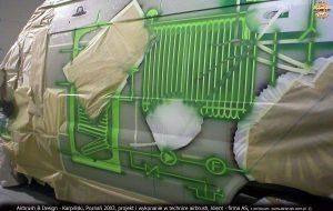 jekty i prace graficzne na samochodach firmy AS