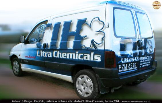 CIH ULTRA CHEMICALS – CITROEN BERLINGO – PROJEKT I WYKONANIE REKLAMY W TECHNICE AIRBRUSH