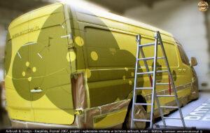 Proces malowania aerografem guzików Bottoni.