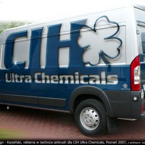 CIH ULTRA CHEMICALS – FIAT DUCATO 120 MULTI JET – PROJEKT I WYKONANIE REKLAMY W TECHNICE AIRBRUSH