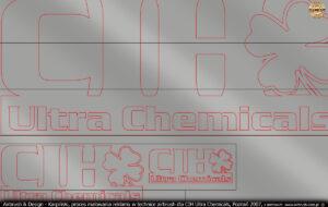 Grafika wektorowa i szablony do reklamy dla CIH Ultra Chemicals, Poznań 2007.