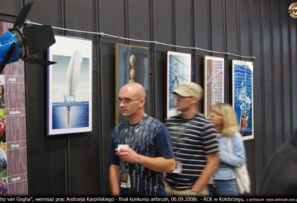 """""""Ucho van Gogha"""", wernisaż Andrzeja Karpińskiego - finał konkursu airbrush, 06.09.2008r. - RCK w Kołobrzegu, z archiwum  www.airbrush.com.pl  ©"""