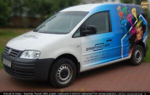 Grafmaj - projekt i reklama na VW Caddy.