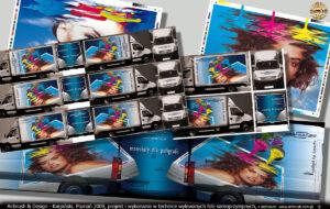 Grafmaj projekt i reklama na samochodzie Iveco Daily.