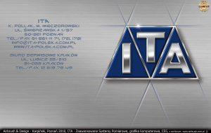 ITA Polska - Zaawansowane Systemy Pomiarowe, grafika komputerowa, logo z elementami towarzyszącymi