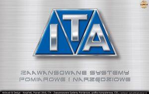 ITA Polska - Zaawansowane Systemy Pomiarowe, grafika komputerowa, logo i grawerowany napis