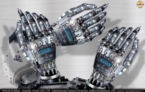 ITA Polska - Zaawansowane Systemy Pomiarowe, grafika komputerowa, dłoń robota