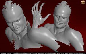 Iron Man modelowanie dla Lars Auraton