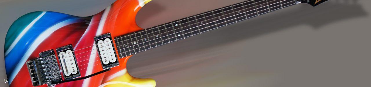 projekt i airbrush, gitara Ibanez