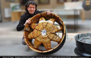 projekt i wykonanie grafiki na felgach Lexani dla Attention!Wheels