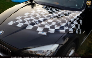 2015-08-20 BMW-X1 projekt i airbrush na BMW-X1 dla Romar Polsped.