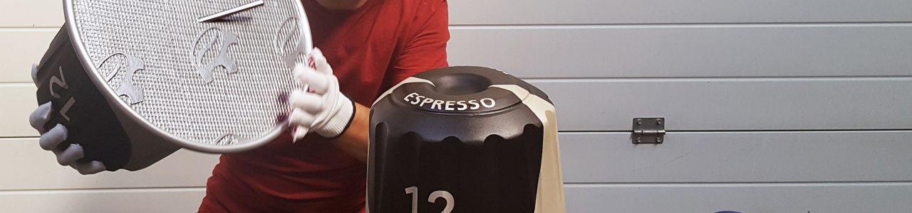 Makieta reklamowa kapsułek Espresso.