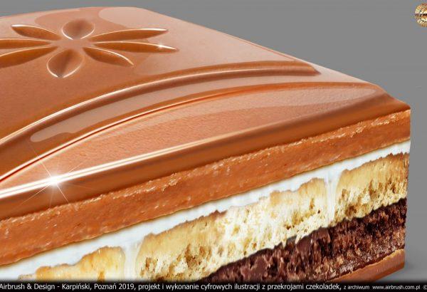 przekrój czekoladki 3D