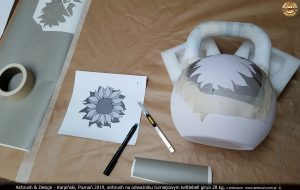 kettlebell girya custom painted