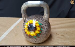 kettlebell girya custom painted