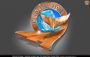 """2020 - logo dla firmy z Florydy """"The Coastal Floor"""", podłogi drewniane."""