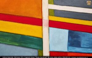"""Fragment obrazu """"Mosty Edynburga"""" dla Linea, akryl, płótno 500x160 cm."""
