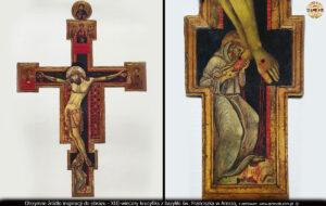 Otrzymane źródło inspiracji do obrazu - XIII-wieczny krucyfiks z bazyliki św. Franciszka w Arezzo.