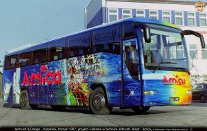 autokar piłkarzy Lech Poznań i Amica Wronki 1997