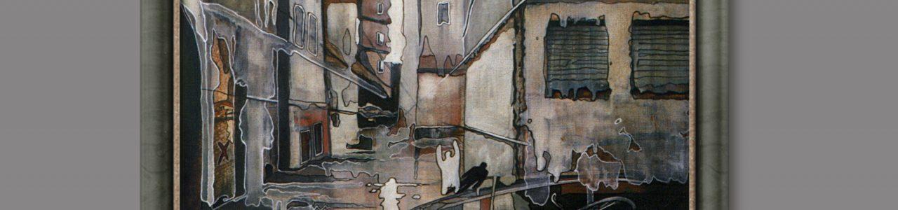 """Andrzej Karpiński - """"Echo"""", olej, płótno 60x50cm, 1989r., z arch. Andrzeja Karpińskiego © www.airbrush.com.pl"""