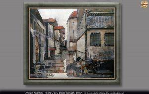 """Andrzej Karpiński malarstwo """"Echo"""", olej, płótno 1989"""