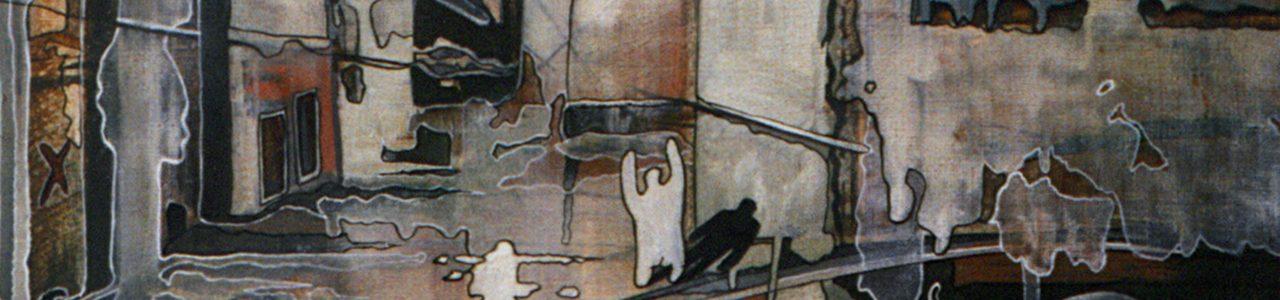 Andrzej Karpiński Echo, olej, płótno 60x50cm, 1989