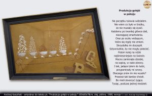 """antyobraz i tekst """"Produkcja gołębi w pokoju"""" 1988"""