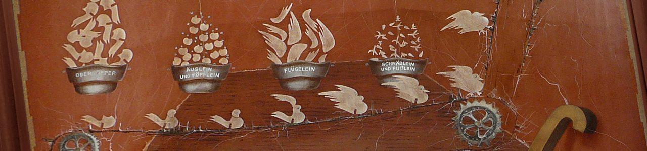Andrzej Karpiński, antyobraz do tekstu Produkcja gołębi w pokoju