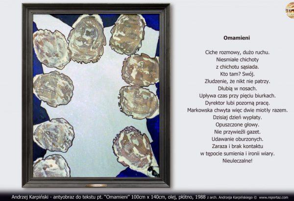 """Andrzej Karpiński - antyobraz do tekstu pt. """"Omamieni"""""""