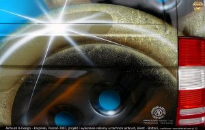guziki Bottoni - projekt i wykonanie reklamy w technice airbrush