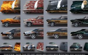 Projekty wstępne grafiki na Buicka Riviera `64 w 2009 r.