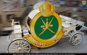 Grafika reklamowa na powozach dla sułtana Omanu - 2010 r.