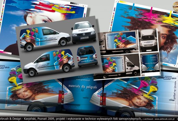 Airbrush & Design - Karpiński, Poznań 2009, projekt i wykonanie w technice wylewanych folii samoprzylepnych, z archiwum  www.airbrush.com.pl    ©