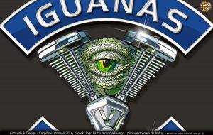 Logo wektorowe z wypełnieniem dla Iguanas Motor Club 2016