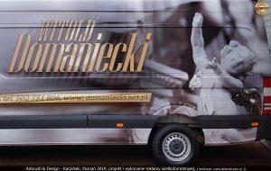 projekt i wykonanie reklamy na samochodzie Sprinter