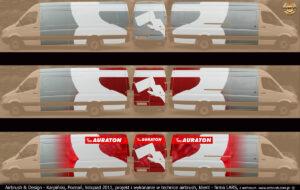 Plan wykonania reklamy w technice airbrush IronMan na samochodzie firmy Lars 2011 r.