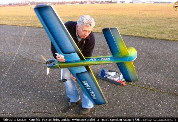 Janusz Węcławiak, model samolotu kategorii F2B