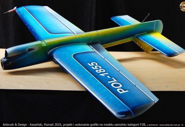 Andrzej Karpiński, grafika na modelu samolotu kategorii F2B