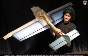 Andrzej Karpiński, grafika airbrush, model, samolot kategoria F2B