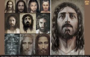 Boga nikt nigdy nie widział... (J1,18) Bóg dał nam jednak pamięć, która zachowuje wspomnienia i OBRAZY. Nie maluję Jezusa przed ukrzyżowaniem, lecz już po wniebowstapieniu, więc będzie to zawsze jakaś osobista wizja.